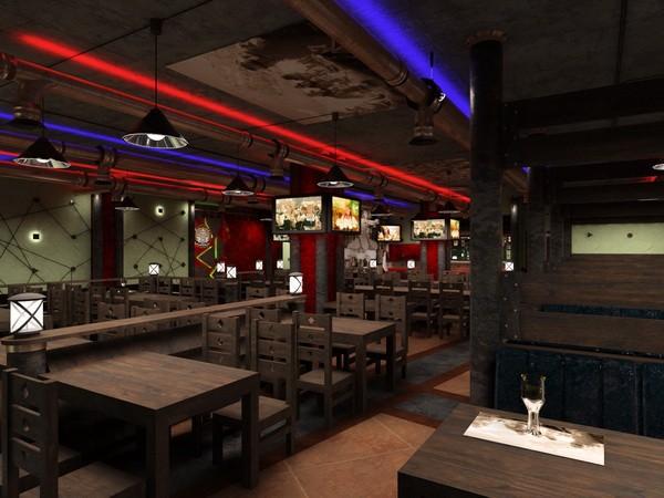 Проект дизайна пивного ресторана