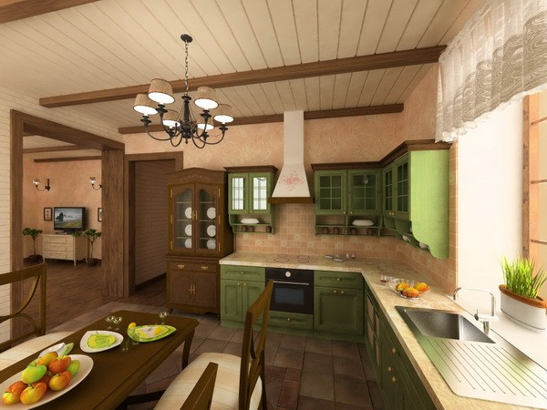 Interior design project of country house in the style of for Country style project homes