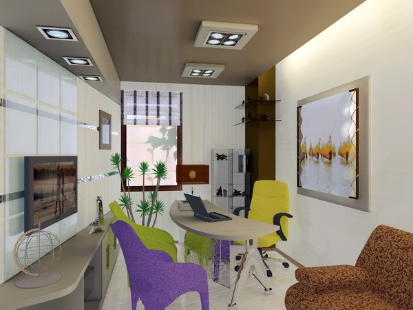 Interior design of travel agency office project for Interior design travel agency office